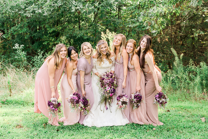 Purple-enchantment-backyard-wedding-Morgan-Lee-Photography-Columbia-Misssouri-Wedding-Phtoographer-Bridal-party-portraits