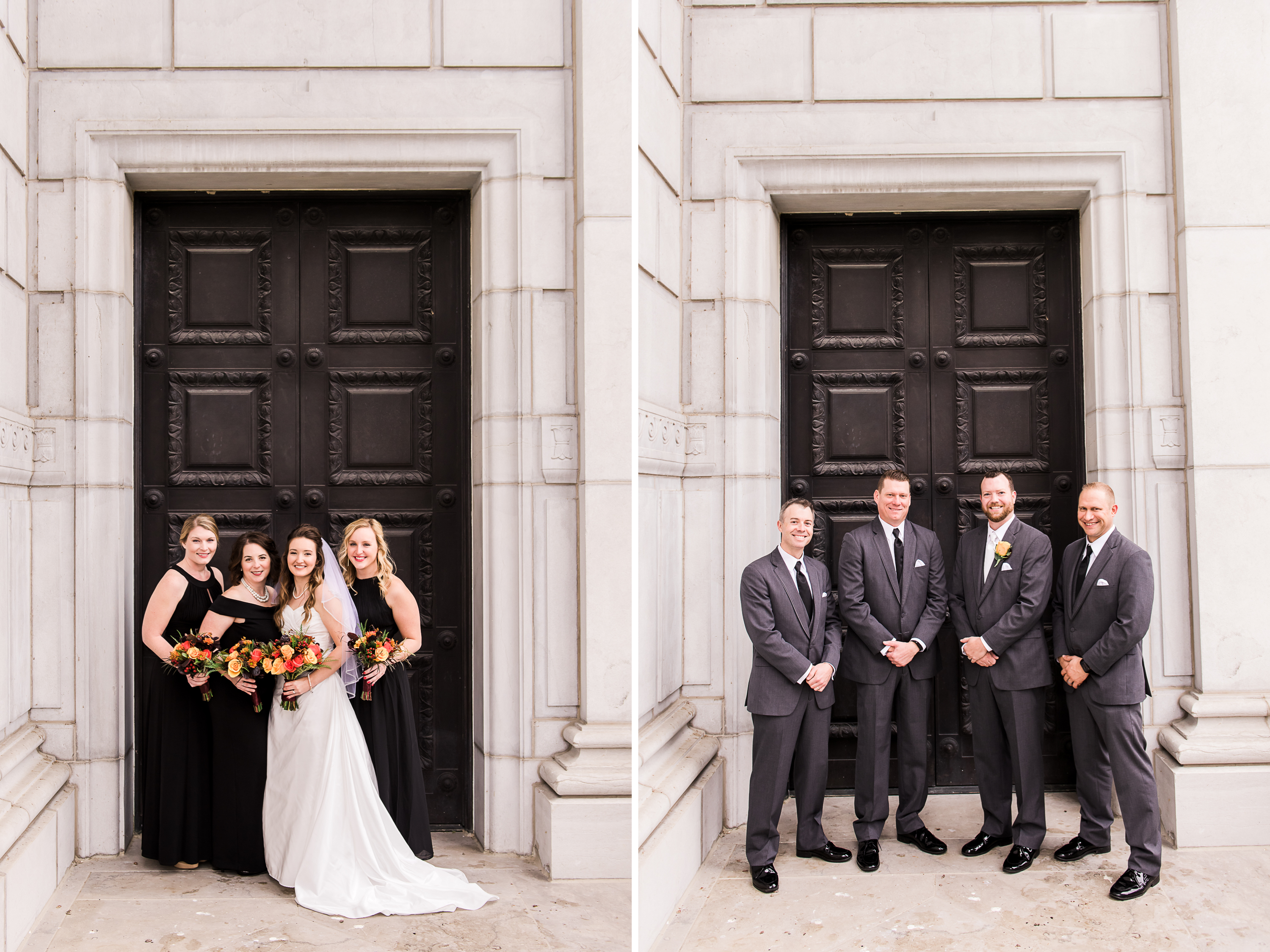 Bride-and-Groom-Portraits-Capitol-Jefferson-City-Missouri-Fall-Millbottom-Wedding-Morgan-Lee-Photography-Columbia-Missouri-Wedding-Photographer