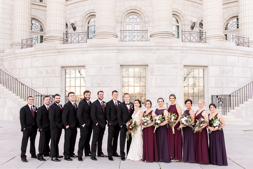The-Millbottom-Jefferson-City-Missouri-Wedding-Details-Gold-and-Marsala-Wedding-Capitol-Bridal-Party-Portraits